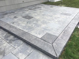 Custom Stamp Concrete Patio - Cranston, RI