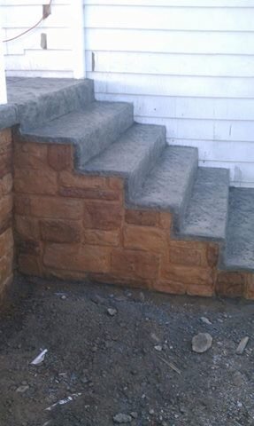 Custom Stamp Concrete Steps