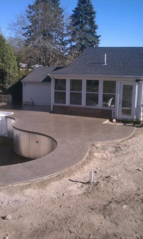 Custom Stamp Concrete Pool Deck