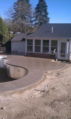 Custom Stamp Concrete Pool Deck