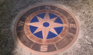 Stamp Concrete Compass