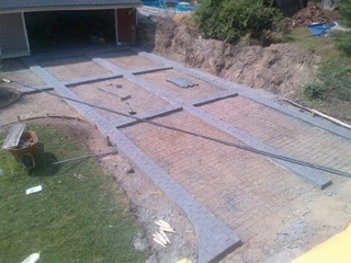 Stamp Concrete Borders for Driveway