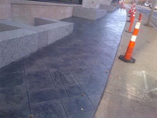 Stamp Concrete Sidewalk
